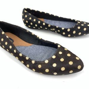 Dr Scholls Really calf hair flats pointed toe 6.5